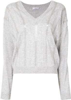 Brunello Cucinelli Sequin Embellished Cashmere Jumper