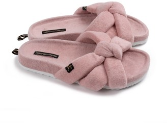 Pretty You London Ariel Indoor Outdoor Slider Slipper In Pink