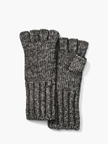 John Varvatos Cotton Wool Fingerless Gloves