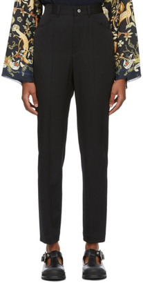 Lanvin Black Wool High Waisted Trousers