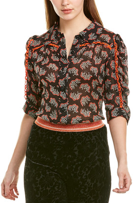 Anna Sui Floral Reef Top