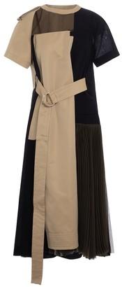 Sacai Belted midi dress
