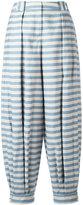 Jil Sander Navy striped tapered pants