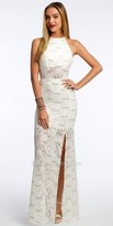 Camille La Vie Sequin Lace Illusion Dress Prom Dress