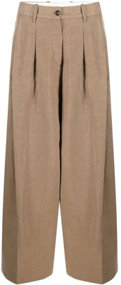 Nine In The Morning Pleat Detailing Palazzo Trousers