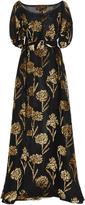 Rochas Velvet Embellished Gown