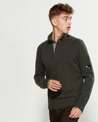 C.P. Company Wool Mock Neck Sweater