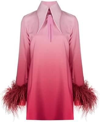 16Arlington Gradient-Print Shirt Dress