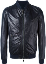 Drome zipped jacket - men - Leather/Polyamide/Polyester/Spandex/Elastane - XL