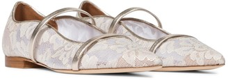 Malone Souliers Exclusive to Mytheresa Maureen floral lace ballet flats