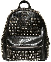 Philipp Plein Junior Studded Faux Leather Backpack