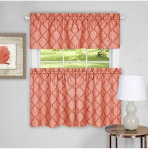 Achim Colby Window Curtain Tier Pair and Valance Set, 58x36