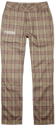 Pleasures Orchestra brown plaid trousers