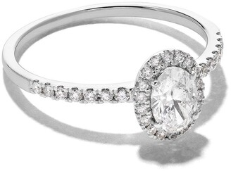 As 29 18kt white gold Mye halo diamond ring