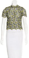Self-Portrait Cropped Floral Lace Top w/ Tags