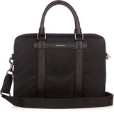Dolce & Gabbana Leather-trimmed nylon briefcase