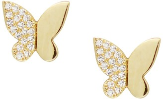 Kamaria Butterfly Diamond Studs