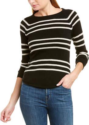 Brodie Cashmere Steph Stripe Sweater