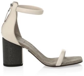 Brunello Cucinelli Monili-Heel Leather Sandals