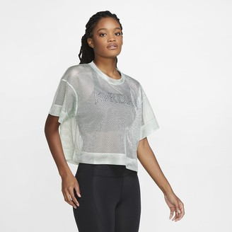 Nike Women's Short-Sleeve Mesh Top Jordan Utility