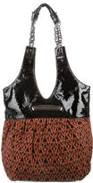 Thomas Wylde Leather-Trimmed Printed Tote