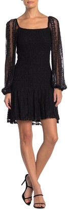 Do & Be Lace Balloon Sleeve Dress
