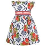 MonnaLisa MonnalisaBaby Girls Strawberry & Damask Print Dress