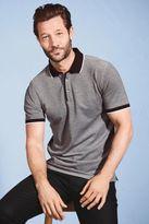 Next Mens Grey Short Sleeve Polo