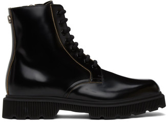 Gucci Black Mystras Lace-Up Boots