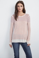 Adarah Stripe Sheer Cashmere Sweater