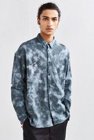Urban Outfitters Acid Bleached Drop Shoulder Flannel Button-Down Shirt