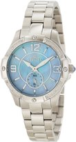 Invicta Women's Angel White Diamond Light Blue MOP Dial Stainless Steel
