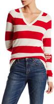 Lands' End Canvas Cashmere V-Neck Sweater