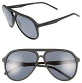 Men's Polaroid Eyewear 59Mm Aviator Sunglasses - Matte Black/ Grey