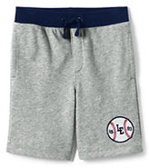 Lands' End Boys Husky Heather French Terry Sweat Shorts-Gray Heather
