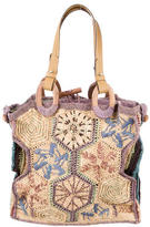 Jamin Puech Woven Straw Shopper Bag