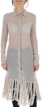 Bottega Veneta Fitted Fringe Detail Shirt Dress