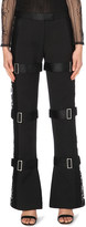 Alexander McQueen Flared wool and silk-blend trousers