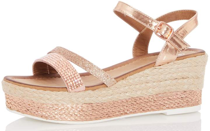 5bb23335f0 Diamante Wedge Sandals - ShopStyle UK