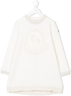 Moncler Enfant Logo Sweatshirt Dress