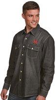 Antigua Men's Maryland Terrapins Chambray Shirt