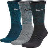 Nike Mens 3-pk. Dri-FIT Triple Fly Crew Socks