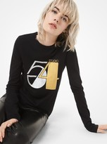 Michael Kors Studio 54 Cotton Long-Sleeve T-Shirt