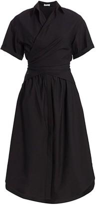 Brunello Cucinelli Wrap Waist Poplin Shirtdress
