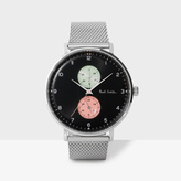 Paul Smith Men's Black And Silver 'Track' Watch