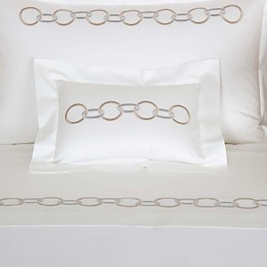 Frette Links Embroidery Boudoir Sham