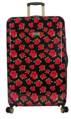 Betsey Johnson Luggage Covered Roses 30-Inch Checked Hard Shell Luggage