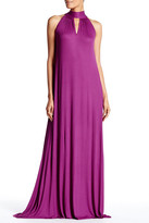 Rachel Pally Halter Neck Stripe Ribbed Dress