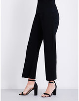 Area Bobbi straight high-rise stretch-crepe trousers