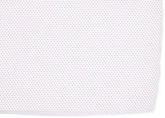 Pehr Pin Dot Baby Crib Sheet - Fuchsia fuchsia/white